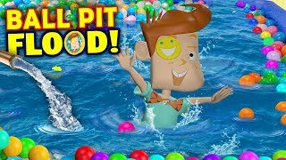 Download OUR BALL PIT FLOODED! Crazy Washer Machine + Chick Fil A No Like Shawn FUNnel Vision Flood Vlog Video