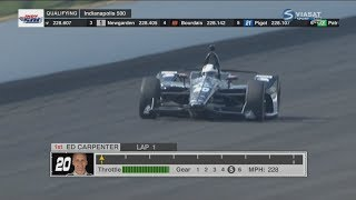 Download IndyCar Series 2018. Pole Day Indy 500. Ed Carpenter Pole Run Video