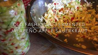 Download Super Probiotic Jalepano Apple Lacto-Fermented Sauerkraut: Homesteading Family Video