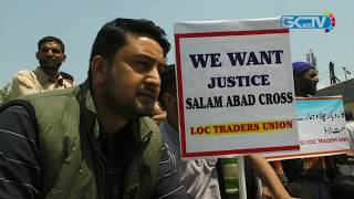 Download Traders' body protests in Srinagar against cross-LoC trade suspension Video