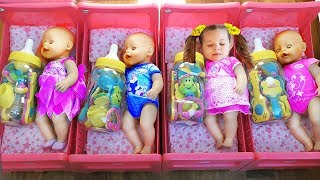 Download Diana playing with Baby Born Doll Videos for children Video