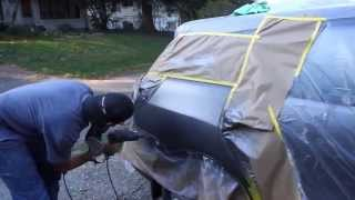 Download Mobile Auto Bodywork & Paint Job (fixing a dent with a uni-spotter) Video