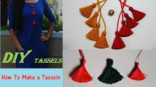 Download How To Make a Tassels Quick DIY Tutorial Video