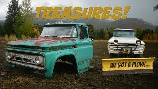 Download MORE TREASURES! 63 chevy c60, 65 chevy k10, & a Meyer E47 snowplow Video