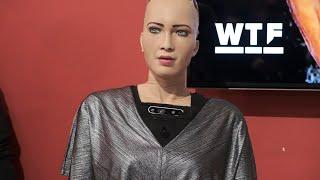 Download CES 2019: AI robot Sophia goes deep at Q&A Video