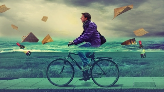 Download cycling in water photo manipulation | photoshop tutorial cs6/cc Video