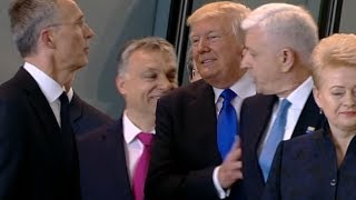 Download Did Trump shove prime minister? Video