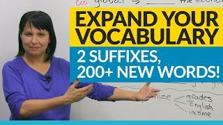 Download Vocabulary Hack: 2 suffixes, 200+ words! Video