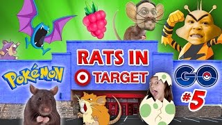 Download RATS IN TARGET STORES! POKEMON GO Part 5 (FGTEEV GYM Win, EGG HATCHING & EVOLVE Gameplay) Video