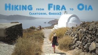 Download Hiking from Fira to Oia in Santorini, Greece. Video