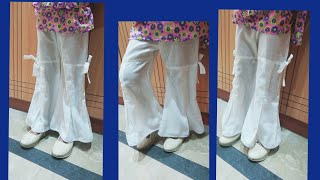 Download Bell Bottom Box plated Trouser design Cutting and Stitching Video