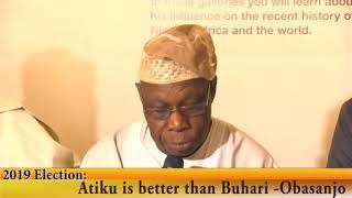 Download 2019 Election: Atiku is better than Buhari -Obasanjo Video