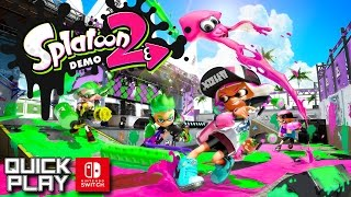 Download Splatoon 2 Demo Gameplay! Nintendo Switch Quick Play Video