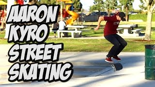 Download STREET SKATING WITH AARON KYRO !!!! Video