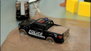 Download Toy Cars & Police Cars in the mud 60 minutes Compilation for kids Video