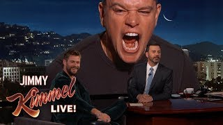 Download Matt Damon Ruins Chris Hemsworth Interview Video