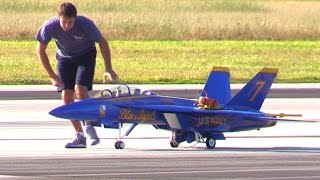 Download Blue Angel 7 RC Jet Power - F/A-18 (Super) Hornet w/ SMOKE ON At 2016 Homestead Air Show Video