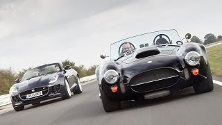 Download AC Cobra drag race: can an XCS Fusion outrun a Jaguar XKR-S? Video