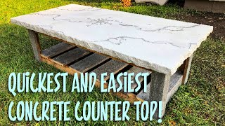 Download How to make a Concrete Counter Top in 1 hour! Video