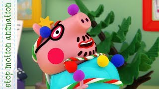 Download Christmas decorations Peppa Pig toys stop motion animation Video