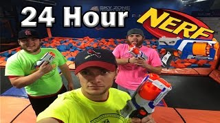 Download 24 Hour Sky Zone Nerf War Video