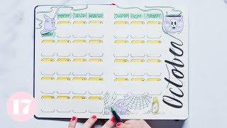 Download October 2018 Bullet Journal Setup | Plan With Me Video