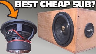 Download CHEAP $100 Subwoofer TEST w/ 12″ Rockville K9 Car Audio Sub | Aero-Ported Box SPL Bass Testing Video