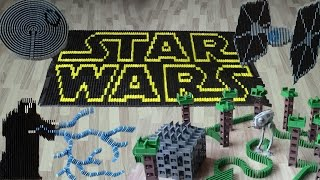 Download Star Wars in 50,000 dominoes Video