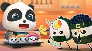 Download Ninja Sushi's Rescue Mission | Ice Creams, Hamburger Vending Machine, Donuts | Baby Songs | BabyBus Video
