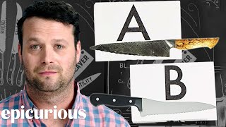 Download Knife Expert Guesses Cheap vs. Expensive Knives | Price Points | Epicurious Video