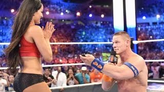Download John Cena Surprises Longtime Girlfriend Nikki Bella With Wrestling Ring Proposal Video