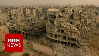 Download Aleppo 'haunted by violence and death' - BBC News Video