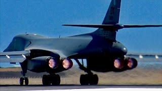 Download USAF B1-B Lancer EARTH SHATTERING Full Afterburner takeoff! Video