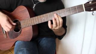 Download Raindrops keep falling on my head - Fingerstyle Guitar - Sigma 000M-15 Video