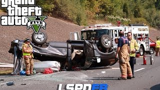 Download GTA 5 LSPDFR - Rollover Traffic Accident - Hit and Run Video