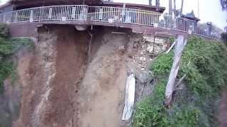 Download Grand Terrace landslide drone footage Video