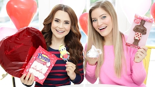 Download TRYING FUN VALENTINES CANDY w/ iJustine! Video