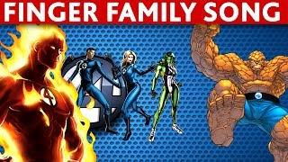 Download Finger Family FANTASTIC FOUR Finger Family NURSURY RHYMES song Video