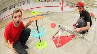 Download GAME OF MINI FRISBEE GOLF / Trick shots! Video