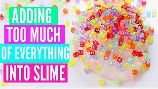 Download ADDING TOO MUCH INGREDIENTS INTO SLIME! Adding Too Much Of Everything Into SLIME! Video