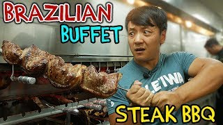 Download All You Can Eat BRAZILIAN STEAK BBQ Buffet in New York Video