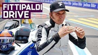 Download Emerson Fittipaldi Drives Formula E Car In Zurich!   ABB FIA Formula E Championship Video