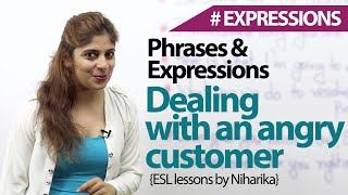 Download Dealing with an angry customer - English phrases & Expressions Video
