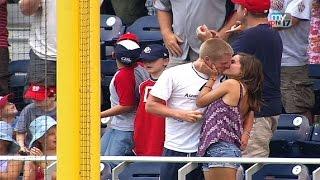 Download A fan catches Dunn's homer, gets a kiss Video