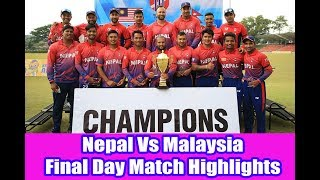 Download FULL HIGHLIGHTS | Historic T-20 series Win || Nepal vs malaysia Video