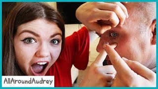 Download FACE YOUR FEARS - Dad Vs. Contact Lenses / AllAroundAudrey Video