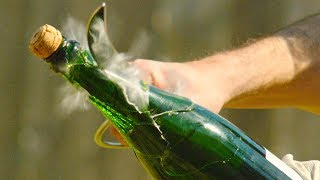 Download Champagne Saber in 4K Slow Motion with Rhett and Link - The Slow Mo Guys Video