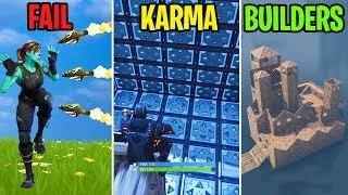 Download HIT BY 100 ROCKETS! - FAIL vs KARMA vs BUILDERS - Fortnite Battle Royale Funny Moments Video