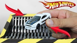 Download Experiment Shredding Hot Wheels Ford Mustang | The Crusher Video