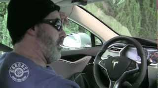 Download Adam Carolla Test Driving The Tesla Model S Video